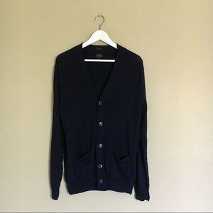 J.Crew•Navy Merino Wool Slim Cardigan Sweater